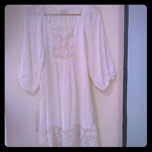 Velvet by Graham and Spencer Lace & Cotton Dress